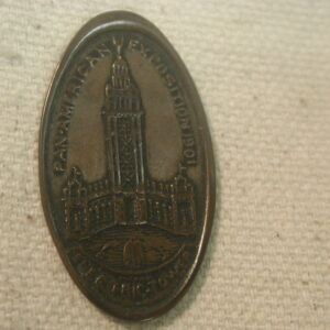 1901 Electric Pan-American Exposition (Elongated Cent) Commemorative Uncirculated