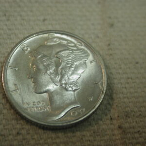 1937-D Mercury Dime Gem Uncirculated Full Bands
