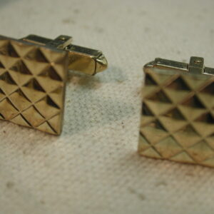 Gold Filled Square Checkerboard diamond cut Cufflinks 12kt 1/20