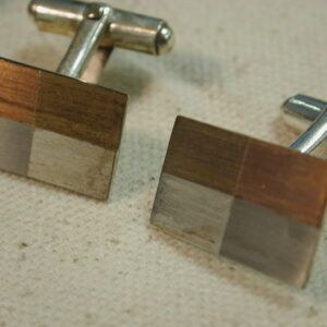 Taxco RZ Sterling Multi Metal checkerboard Cufflinks