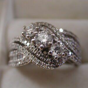 14KT Diamond Infinity 2 carat+ Past Present Future  size 7