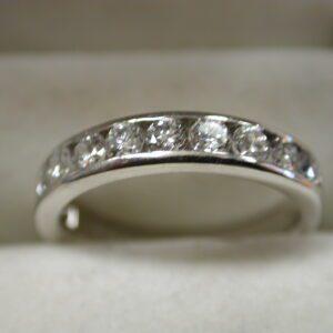 Platinum Diamond 1 carat+ channel set Band size 7