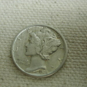1938 U.S Mercury Dime Type Re-Engraved Extra Fine