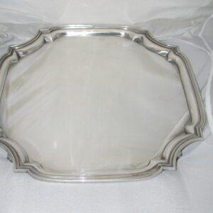 Tiffany & Co. 85147 vintage Octagonal scalloped corner heavy tray