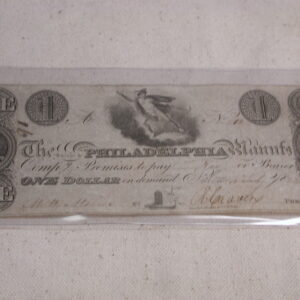1828 $1 Dollar Salem and Philadelphia County Extra Fine