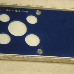 Birth Year Coin Holder Boy Blue 5 coin Lucite brand new with box Capital Plastics