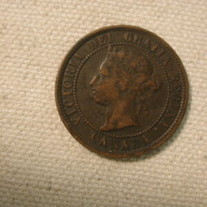 1884 Canada One Cent Very Fine #KM7