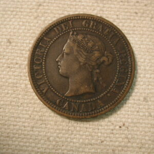 1881/H Canada One Cent Very Fine #KM7