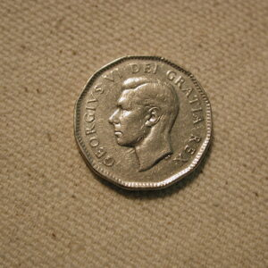 1949 Canada Five Cent Uncirculated #KM42