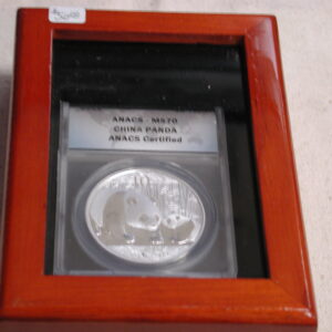 2011 Chinese Panda 10 Yuan ANACS Certified MS70 in display case