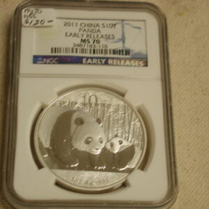 2011 China 10Y Panda Early Releases MS70 NGC