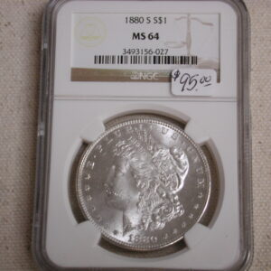 1880-S Morgan MS 64 NGC blazing white