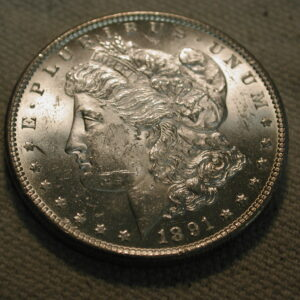 1891-S U.S Morgan Silver Dollar Choice Uncirculated blazing luster