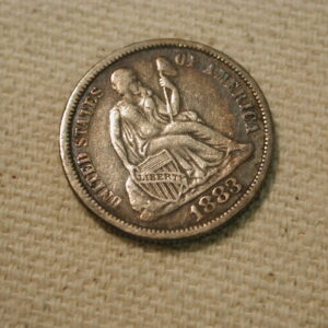 1883 U.S Liberty Seated Dime Extra Fine