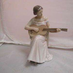 Bing & Grondahl Woman Playing Guitar #1684 Figurine