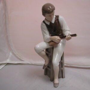 Bing & Grondahl #1600  porcelain Man with mandolin
