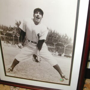 Phil Rizzuto signed sepia Black and White Photo NY Yankees MLB hologram