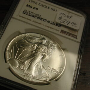 1992 Silver EAGLE NGC  MS 69