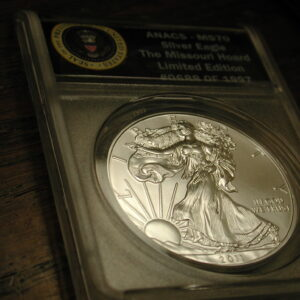 2011-S  ANACS - MS70 Silver Eagle the Missouri Hoard Limited edition #0688 Of 1997