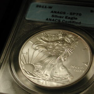 2011-W $1 ANACS - SP70 Silver Eagle ANACS Certified (WithBox)