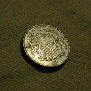 1867  U.S. Shield Nickel (No Rays) Extra Fine