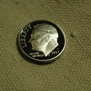 1997 S Roosevelt Dime *High Wire Rim Area Obverse* (Proof)