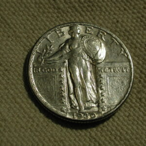 1930 U.S. Standing Liberty Quarter EF/AU