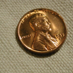 1955-S U.S. Lincoln Wheat Cent Gem Uncirculated Red