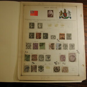 Great Britain collection 82 stamps 1840-1940 Scott catalogue value over $600