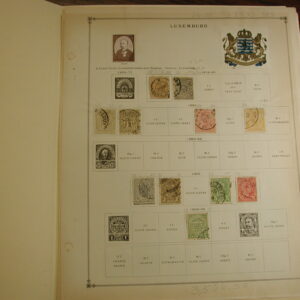 Luxembourg 1859-1939 stamp collection