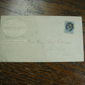 A44 One Cent Franklin Advertising  cover Dr.Stones Air Institute Rochester