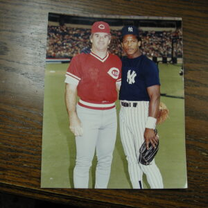 Pete Rose and Ricky Henderson 8 x 10 color photograph Kodak paper