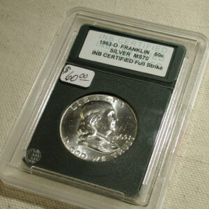 1963-D Franklin Half  - Gem Uncirculated  Full Strike