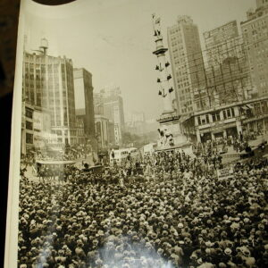 New York City historical photo Columbus Circle Parade Gov Lehman DA Dewey