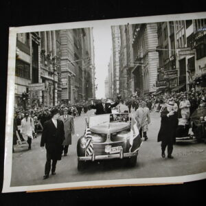 New York City Historical photo 1951 French President Vincent Auriol