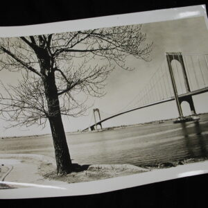 Verrazano-Narrows Bridge 1960s old photo