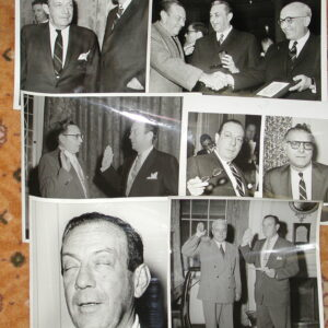 NYC Original Mayor Robert Wagner 1960's w Graham DeSapio