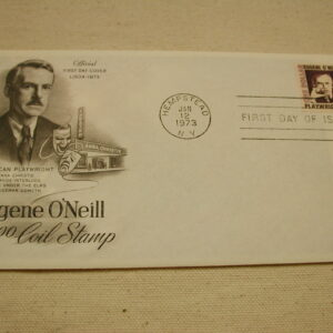 1973 Eugene O'Neil Coil Stamp First Day Issue