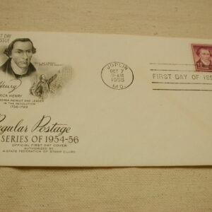 1955 Patrick Henry First Day Issued
