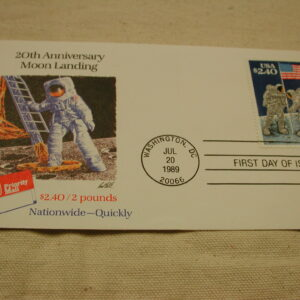 1989 20th Anniversary Moon Landing First Day Issued