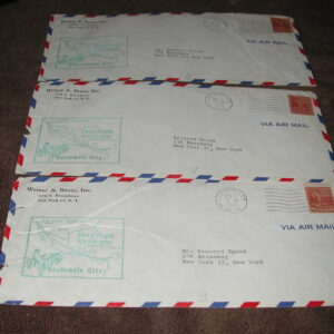 1951 Air Mail First Flight Los Angeles to Guatemala City