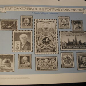 1945-1949 Postwar Years F.D.C All Unaddressed and cached 6 covers
