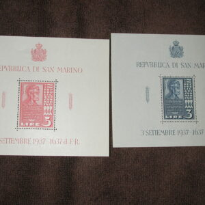 Italy Stamps #186-7 Very Light Hinge Souvenir Sheets