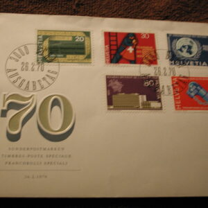 Switzerland  1970 Francobolli Special CPL FDC Stamps