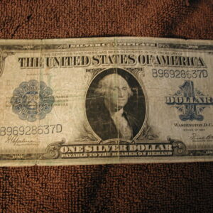 1923 Large Note Silver Certificate Blue Seal Very Good FR#237