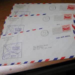 U.S Air Mail First Flight Los Angeles to Balboa Three Covers