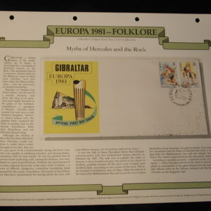 1981 European folklore FDC set of 8 Cached F.D.C Unaddressed