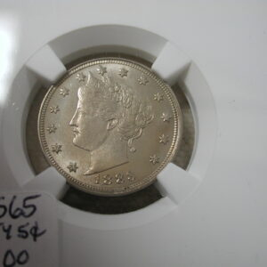 1883 Liberty Nickel NGC MS 65 with Cents overall golden toning