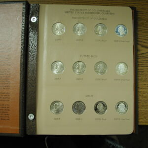 US 2009 COMPLETE DC and TERRITORIAL QUARTER SET with PROOFS and SILVER PROOFS