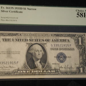 1935 D Silver Certificate Set of 3 consecutive Fr.1613N Narrow PCGS 58